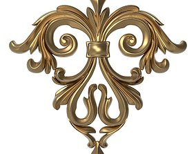 decorative pattern ready for 3D printing pediment