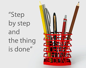 3D printable model Step by Step Quote Pen Holder