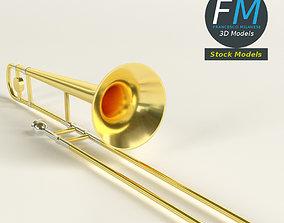 3D model PBR Trombone