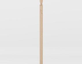 3D model Karimoku New Standard Angle Coat Stand