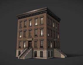 3D asset Modular Apartment Building City Game Ready