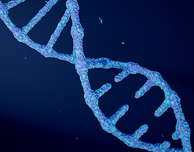 Animated DNA model 3D