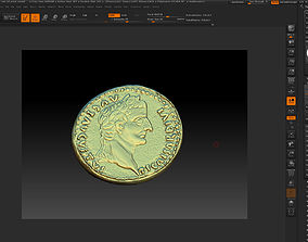 highpoly Old Rome Coin-3d print model