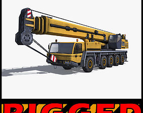 Mobile Crane Rigged 3D model