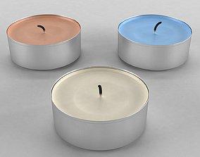 3D model tealight candle set
