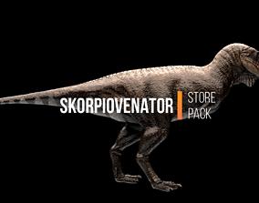 Skorpiovenator Dinosaur Asset Pack 3D model animated