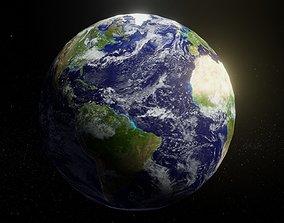 VR / AR ready Photorealistic Earth 2k Textures 3D Model
