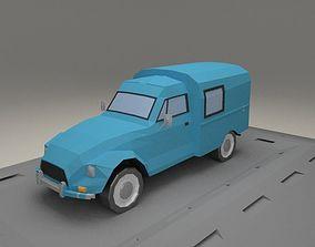 3D asset Citroen Acadiane from 1985