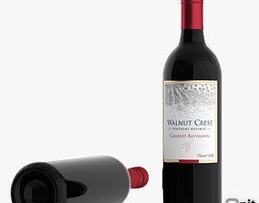 3D model Cabernet Sauvignon Red Wine Bottle