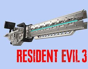Resident Evil 3 Remake Railgun cosplay for 3D