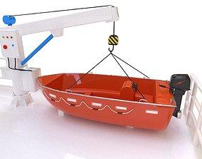 fast rescue boat 3D asset