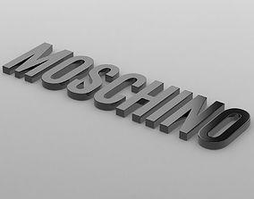 moschino logo fashion-and-beauty 3D