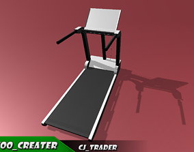 Gym Treadmill Lowpoly 3D model Free realtime