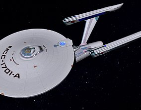 3D STAR TREK - USS ENTERPRISE NCC1701-A