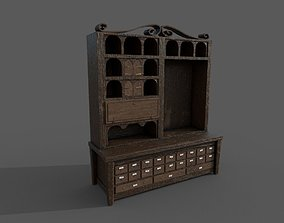 3D Apothecary Cabinet 2 versions in 1 realtime