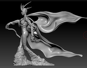 3D printable model cloak character