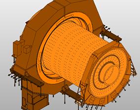 BallMill-Polysius 7-9m dia x 12-4m 3D model