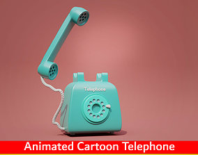 3D asset Animated Cartoon Telephone