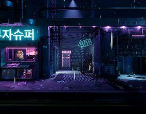 game-ready UE4 Cyberpunk Grunge Sci-Fi Asset Pack