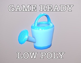 Watering Can Toy low-poly game ready 3D model