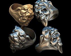 Berserk Skull ring 3D print model