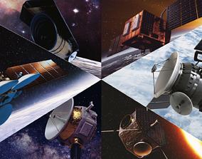 3D Space Satellites