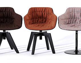 3D model Flow Slim Armchair 2