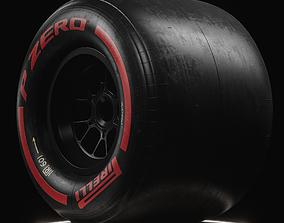 3D F1 Pirelli Slick SOFT Tire Real World Details