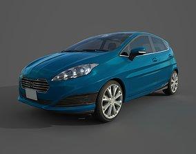 3D asset Hatchback Car