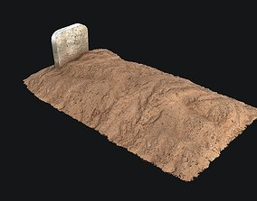 3D asset Grave - PBR Game-ready