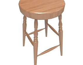 3D asset Windsor Stool