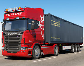 Scania R 730 Container transport 3D model