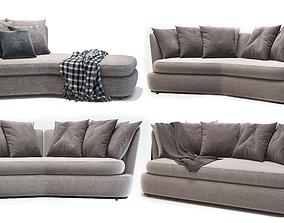 3D model Apollo sofa Maxalto Antonio Citterio 3 IN