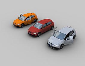 3D model VR / AR ready VW Golf