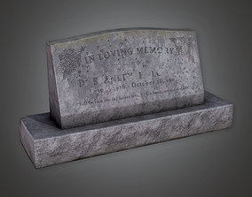 Grave Stone Cemetery 11 - CEM - PBR Game Ready 3D model