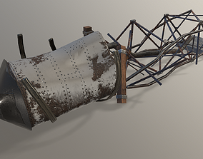 Ruined Water Tower 3D asset