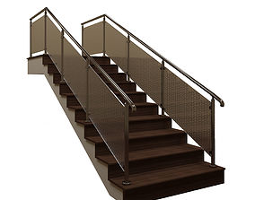 3D Staircase with fence