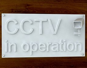 3d Printable CCTV sign STL OBJ