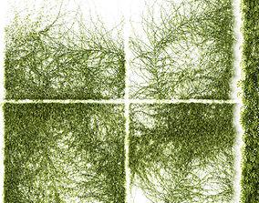 Set of 4 models of leaves for walls or fences
