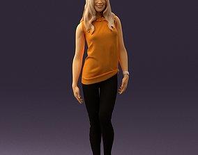 3D Woman in orange top 0609