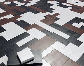 3D model Paving rectangle long tile n1