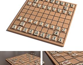 3D model traditional Shogi board