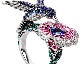 The hummingbird ring - Boucheron 3D print model