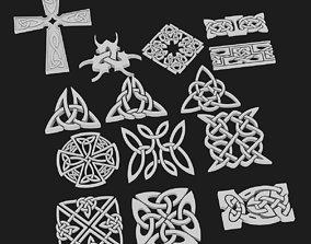 3D Celtic ornament pack 3 model