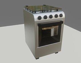 3D model Cooker - Stove - Four Burner - Fogao 4 Bocas