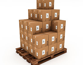 VR / AR ready 3D Warehouse Box Model 6