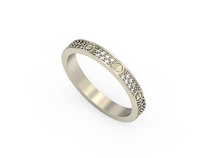 3D print model Ring Love Extra Small 2
