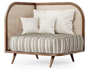 3D Corner restaurant lounge chair TV1