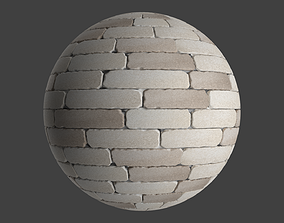 Stylized PBR Light Sandy Brick Seamless 3D