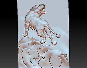 sculpture tiger 3D